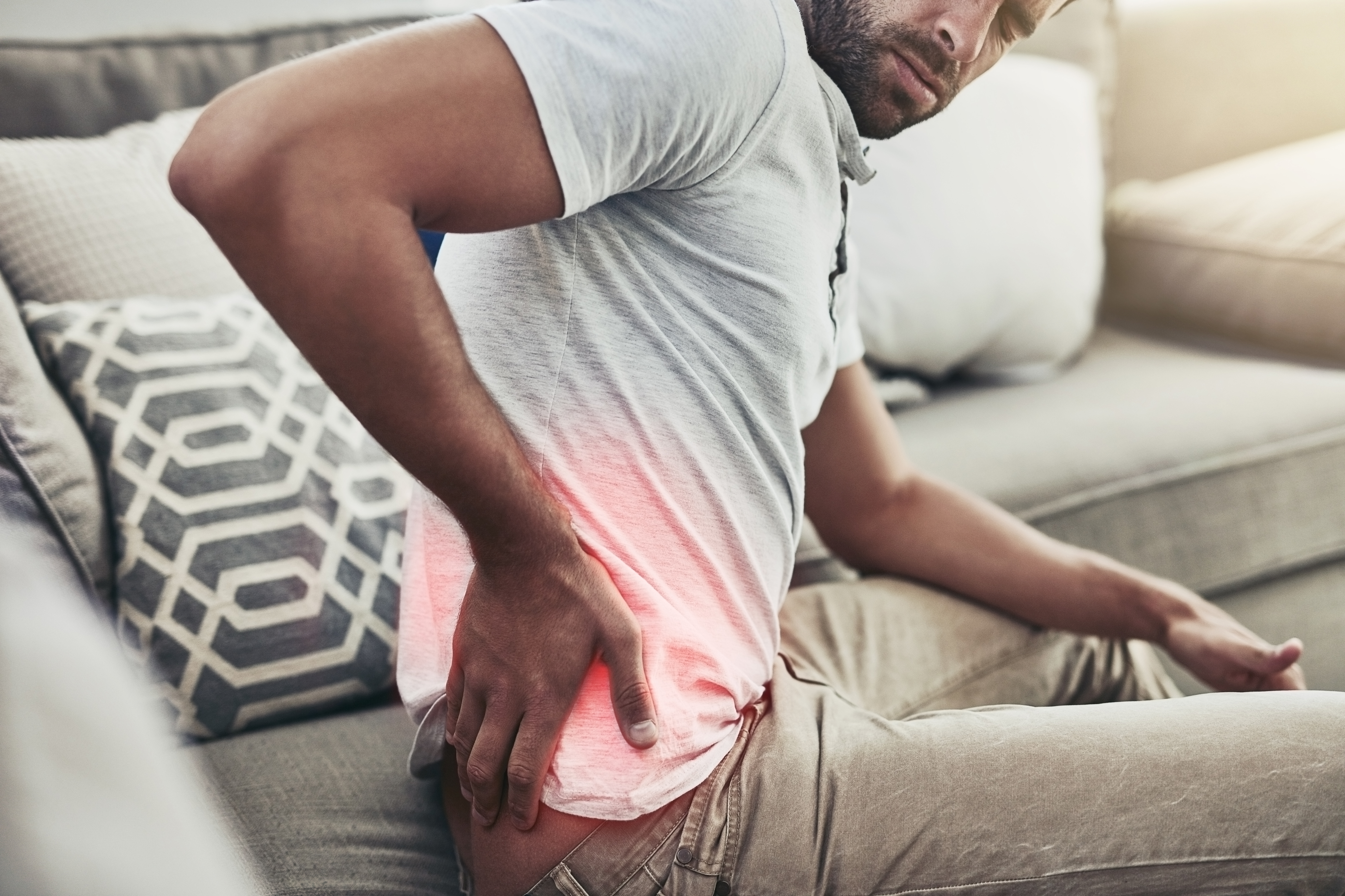 Man with sciatica pain